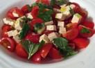 豆腐とミニトマトのサラダ
