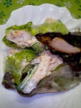 ツナサラダの生春巻き