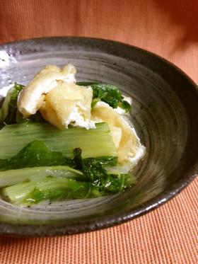 菜っ葉とお揚げの炊いたん、京おばんざい2