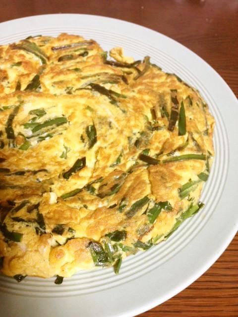 5分で簡単、フツーのニラ卵