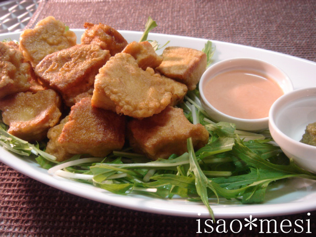 まるで鶏肉?高野豆腐の唐揚げ
