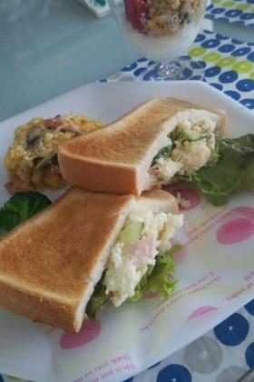 ☆朝食にポテトサラダサンドイッチ☆