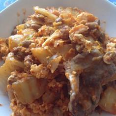 我が家のまかない飯‼︎豚キム納豆