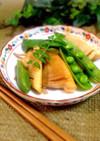 筍とスナップえんどうのバター醤油炒め✿
