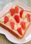 いちごとホワイトチョコのトースト