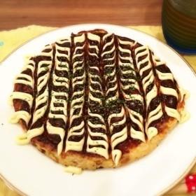 ふわふわヘルシー☆豆腐と納豆のお好み焼き