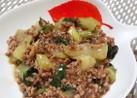 挽き肉と青梗菜の甘辛煮