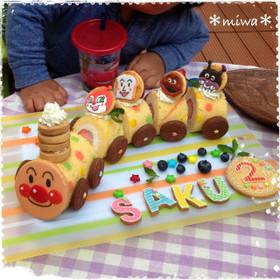 アンパンマン列車ケーキ