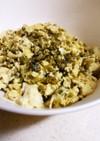 高菜漬と豆腐で*卵とじ