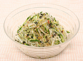 大根ときゅうりの簡単サラダ かつお風味