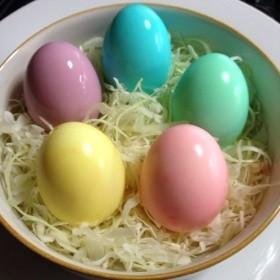 色付きゆで卵☆カラフル卵☆彩りアレンジ☆
