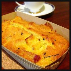 激しっとりサツマイモのパウンドケーキ*