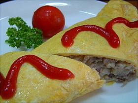 ひき肉とポテトのクリーミーオムレツ