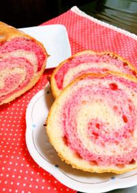 粒ジャムde見た目も可愛いいちご練乳パン
