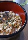 休日のお昼に♪鶏と豆腐の和風丼