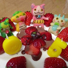 妖怪ウォッチ誕生日ケーキ☆マジパンで簡単
