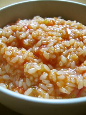 生米から作るトマトリゾット