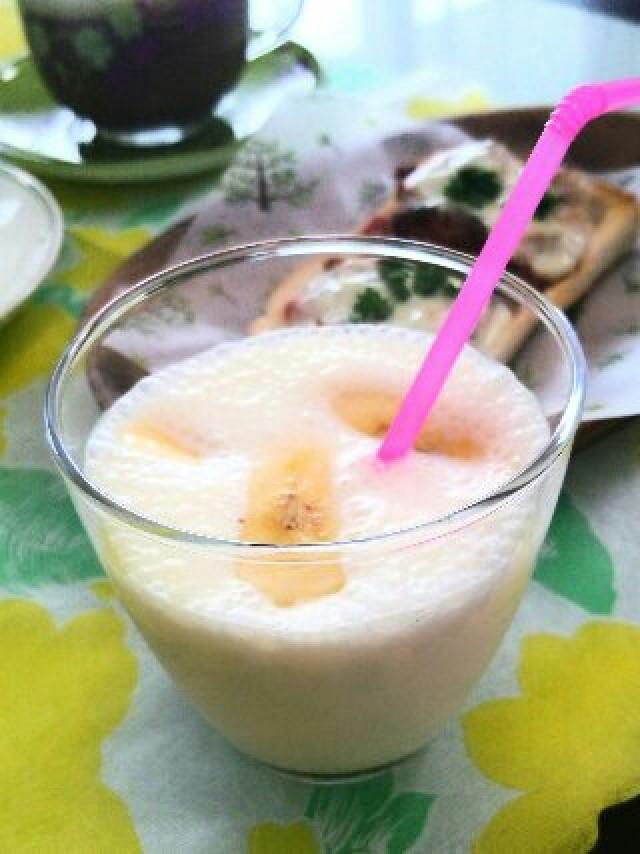バニラアイスで☆朝食に簡単バナナジュース