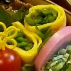 お弁当☆ほうれん草の卵巻き