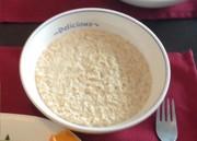 レンジで簡単!ミルク粥(オートミール)の写真
