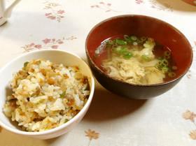 絶品。中華風混ぜご飯
