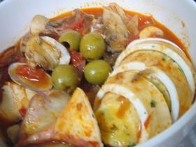 イカのフィリング トマト煮込み