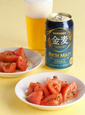 トマトの塩オリーブオイル和え