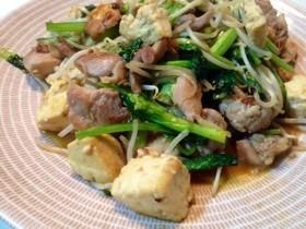 【糖質オフ】鶏肉と木綿豆腐の野菜炒め。