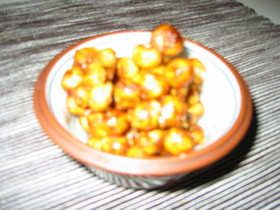 豆麩で☆キャラメルナッツポップコーン