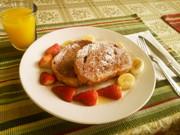 """""""牛乳・卵なし""""ビーガンフレンチトーストの写真"""