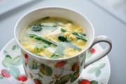 ニラ卵中華スープの写真