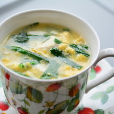 ニラ卵中華スープ