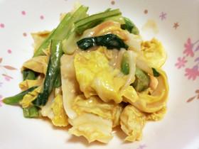 【5分で副菜】キャベツと小松菜のマヨみそ和え