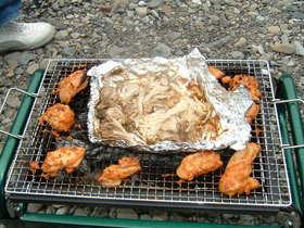 チキンのBBQソース&きのこのホイル焼き
