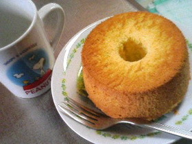 ふわふわしっとり 練乳シフォンケーキ