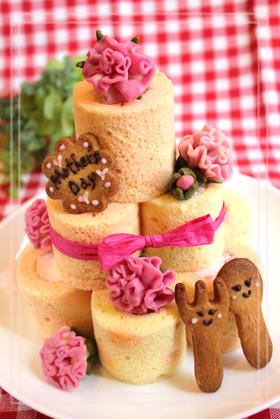 母の日ケーキ♪チョコ細工でカーネーション