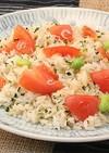 トマトと青菜の夏チャーハン