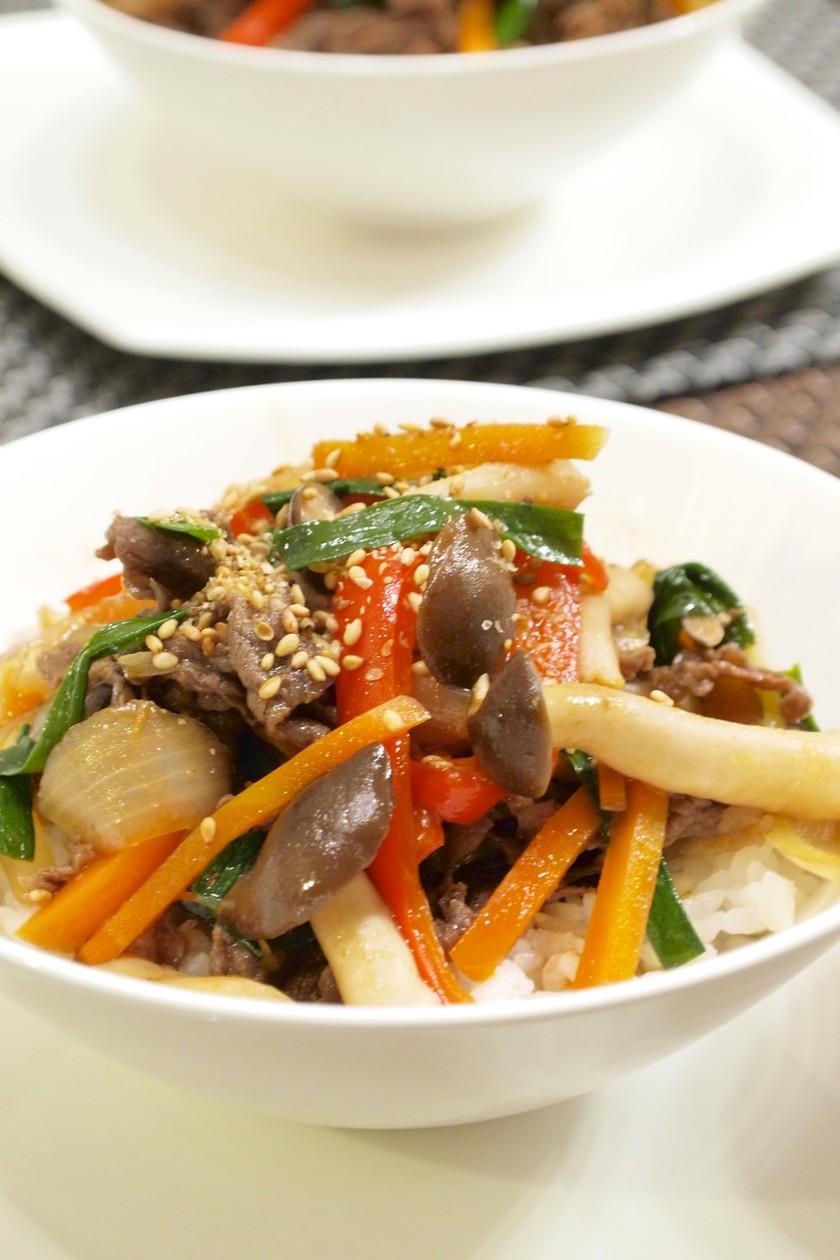 お野菜たっぷり♪韓国風牛丼