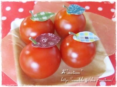 可愛いトマト♡葉っぷるちゃん*キャラ弁