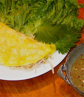 ベトナムのお好み焼き、バンセオ