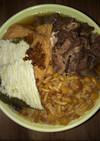 西日本風 肉そば(きつね、昆布入)【温】