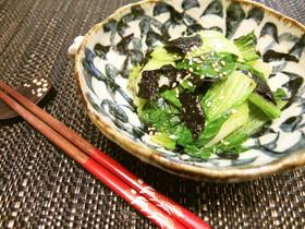 鉄分補給★レンジで青梗菜と海苔のナムル
