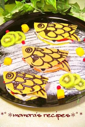 簡単HM鯉のぼり野菜パンケーキこどもの日