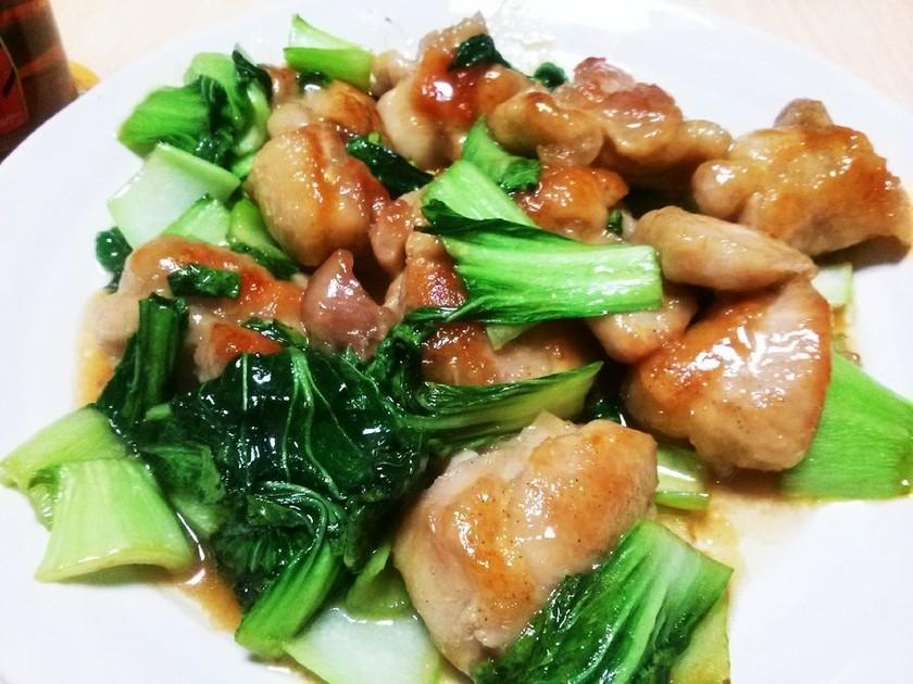 鶏ももとチンゲン菜の簡単中華風炒め
