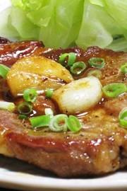 豚ロースのニンニク醤油ソテーの写真