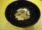 竹の子と豆腐のお吸い物
