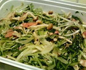 水菜としめじのマリネ風サラダ