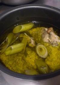 炊飯器deロティサリー風チキンのコンフィ
