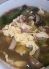 キノコとホタテとベーコンのスープ