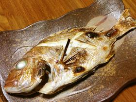 タイ(マダイ)の塩焼き